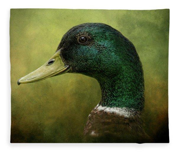 Beauty In Green Fleece Blanket