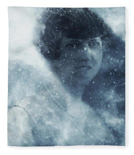 Beauty In The Snow Fleece Blanket
