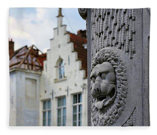 Belgian Coat Of Arms Fleece Blanket