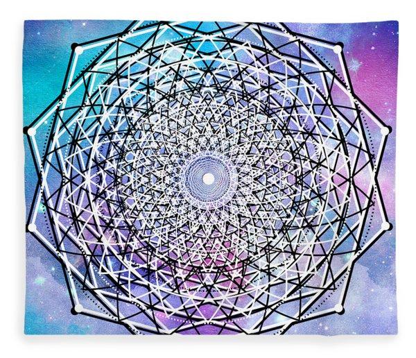 Fleece Blanket featuring the digital art Big Bang by Bee-Bee Deigner