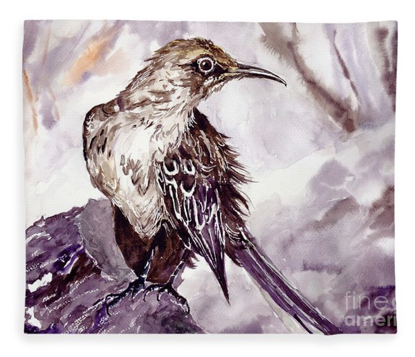 Bird On The Rock Fleece Blanket