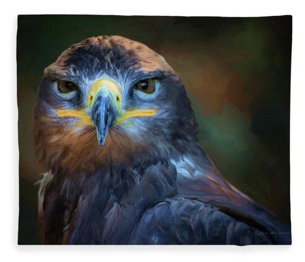 Fleece Blanket featuring the digital art Birds - Lord Of Sky by Sipo Liimatainen