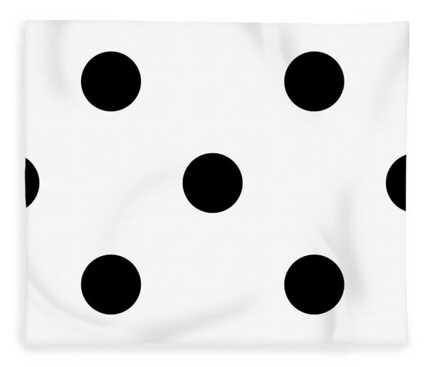 Black Dots On A White Background- Ddh610 Fleece Blanket