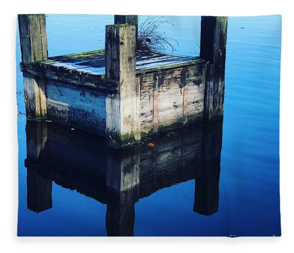 Blue Dock Fleece Blanket