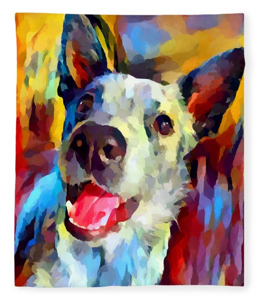 Blue Heeler 2 Fleece Blanket