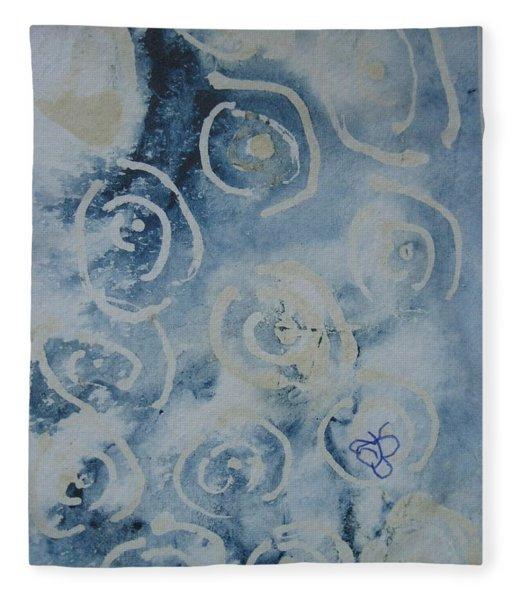 Blue Spirals Fleece Blanket