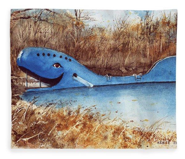 Blue Whale Fleece Blanket