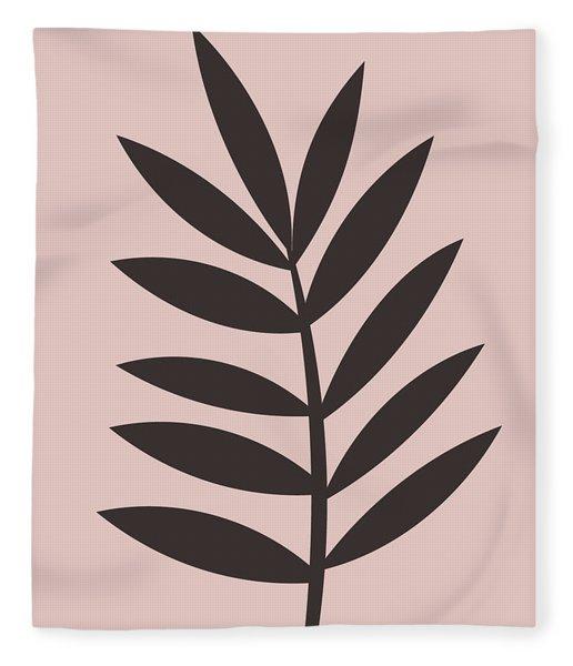 Blush Pink Leaf I Fleece Blanket