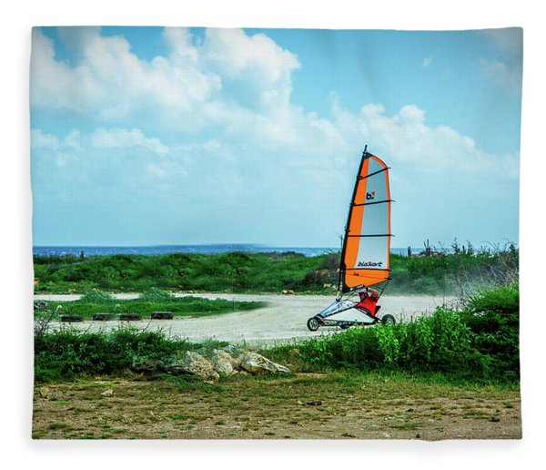 Bonaire Land Sailor  Fleece Blanket