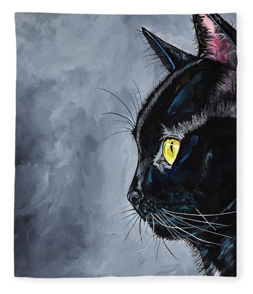 Boo Kitty Fleece Blanket