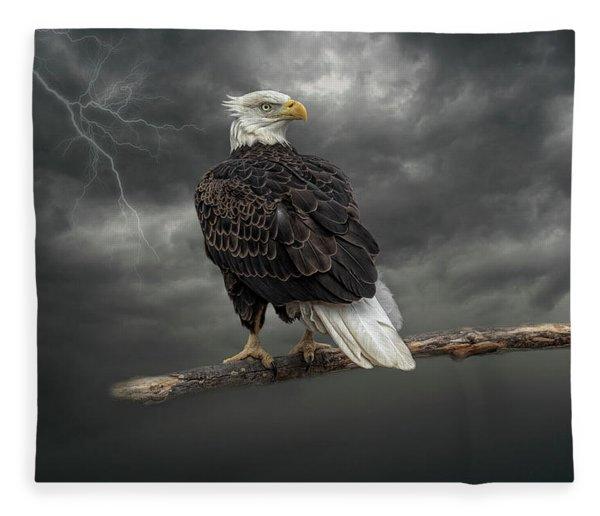Braving The Storm Fleece Blanket