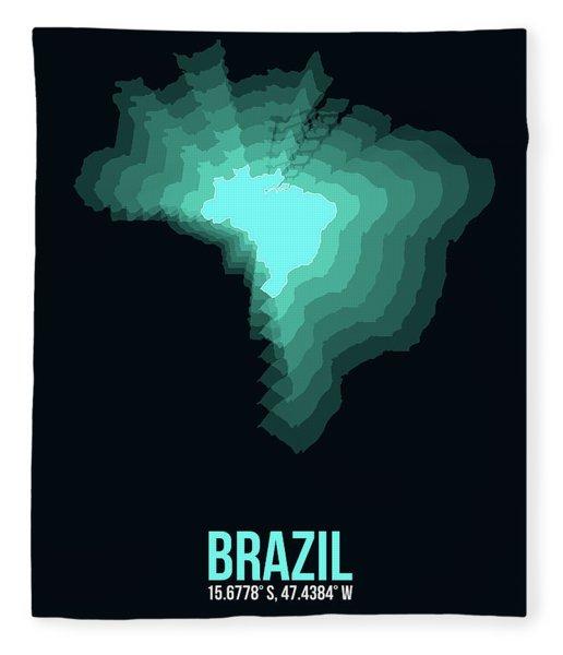 Brazil Radiant Map 2 Fleece Blanket