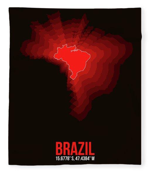 Brazil Radiant Map 3 Fleece Blanket