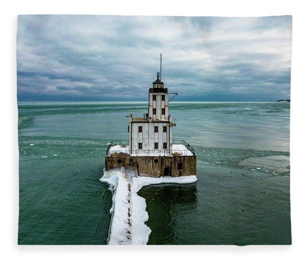Breakwater Lighthouse Fleece Blanket