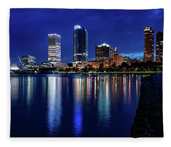 Brew City Blue Hour Fleece Blanket