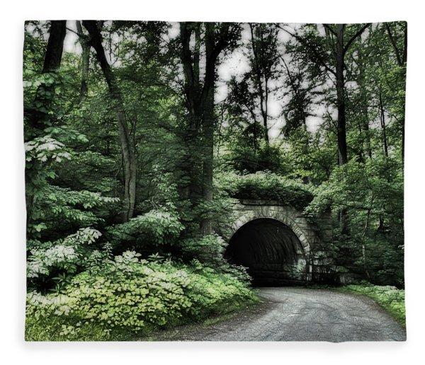 Bridge Forest Fleece Blanket
