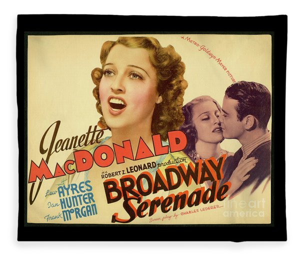 Broadway Serenade Movie Poster Fleece Blanket