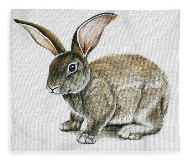 Bunny 1 Fleece Blanket