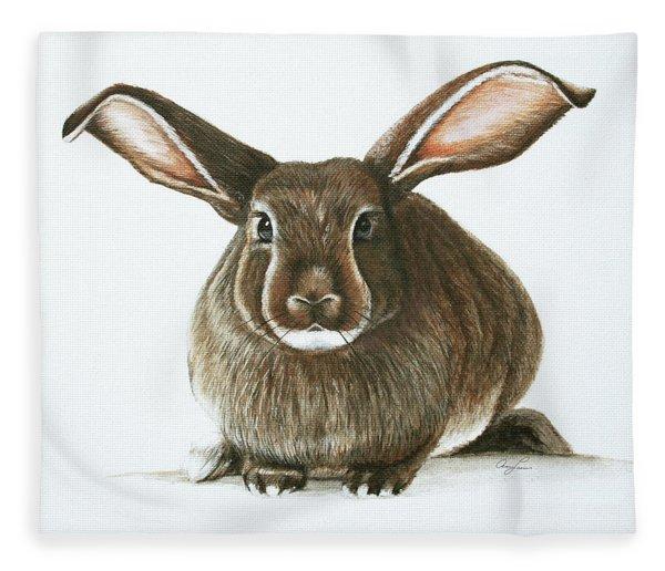 Bunny 4 Fleece Blanket