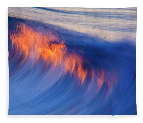 Burning Wave Fleece Blanket