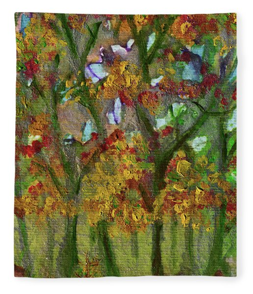 Bursting With Color Fleece Blanket