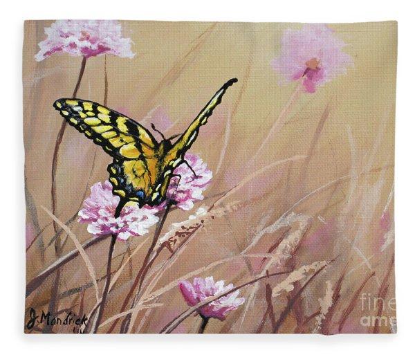 Butterfly Meadow - Part 1 Fleece Blanket