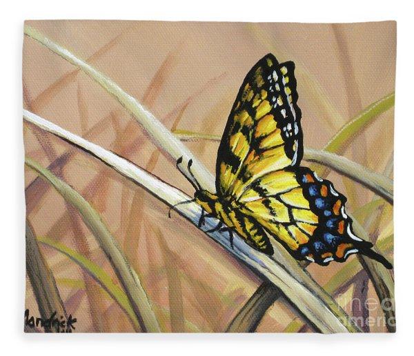Butterfly Meadow - Part 2 Fleece Blanket