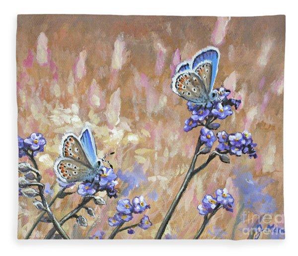 Butterfly Meadow - Part 3 Fleece Blanket