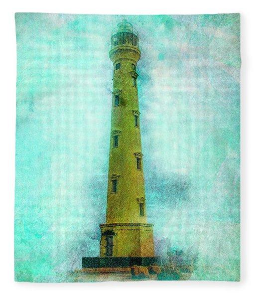 California Lighthouse Aruba Fleece Blanket
