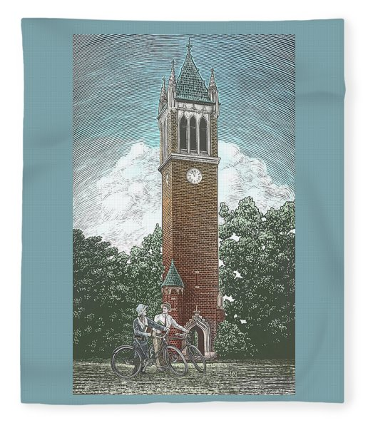Campanile 1928 Fleece Blanket