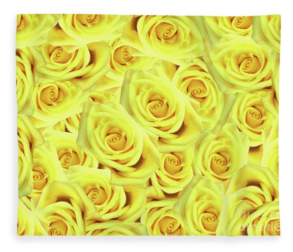 Candlelight Roses Fleece Blanket