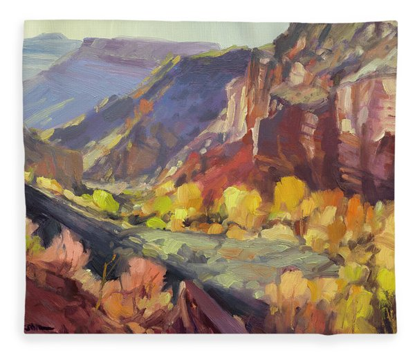 Canyon At Capitol Reef Fleece Blanket