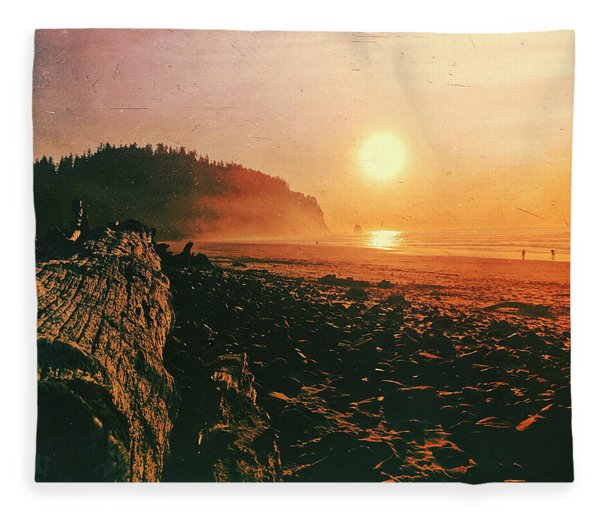 Cape Meares Beach Fleece Blanket