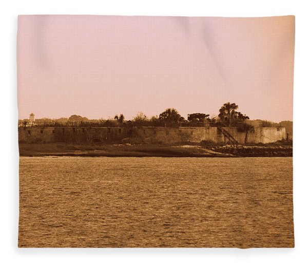 Castle Pinckney, Charleston Harbor Fleece Blanket