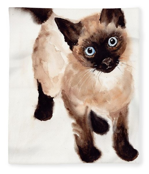 Cat Malcolm Fleece Blanket