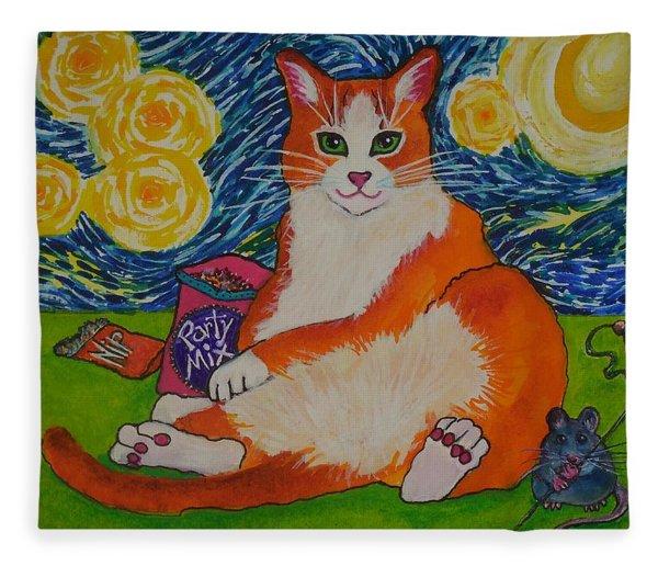 Cat Nipped  Fleece Blanket