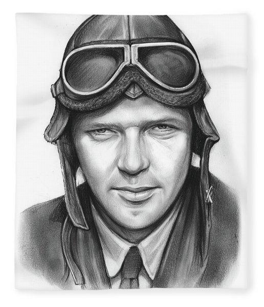 Charles Lindbergh Fleece Blanket