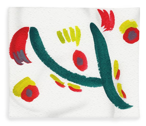 Fleece Blanket featuring the painting Chasing by Bee-Bee Deigner