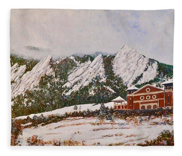 Chautauqua - Winter, Late Afternoon Fleece Blanket