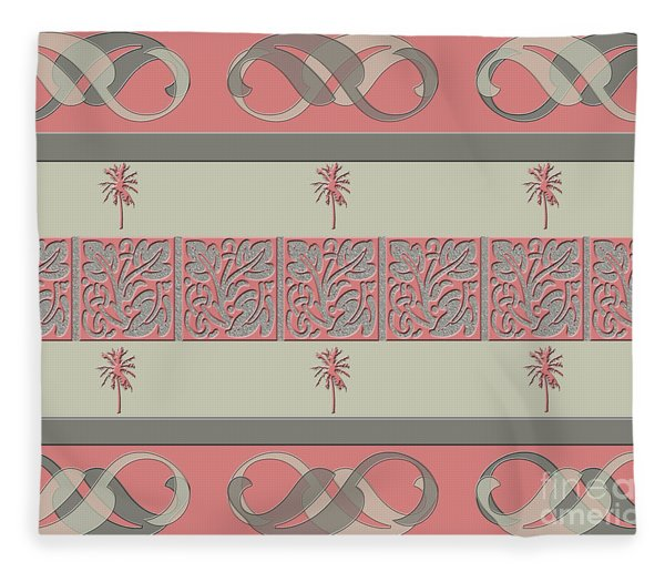 Cheery Coral Pink Fleece Blanket