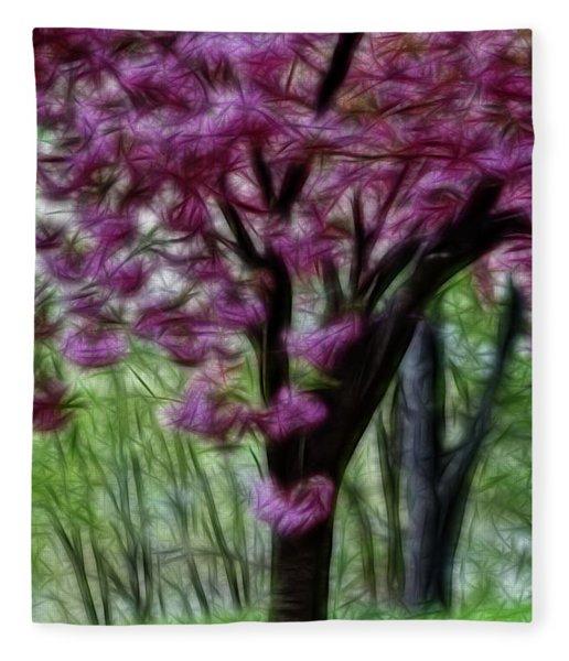 Cherry Blossom Tree Fleece Blanket