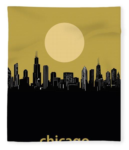 Chicago Skyline Minimalism 5 Fleece Blanket