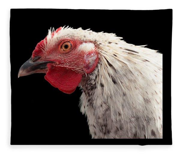 Chicken Head 2 Fleece Blanket