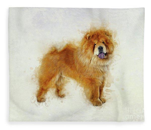 Chow Chow Fleece Blanket