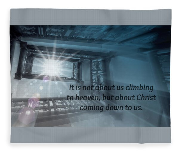 Christ Alone Fleece Blanket