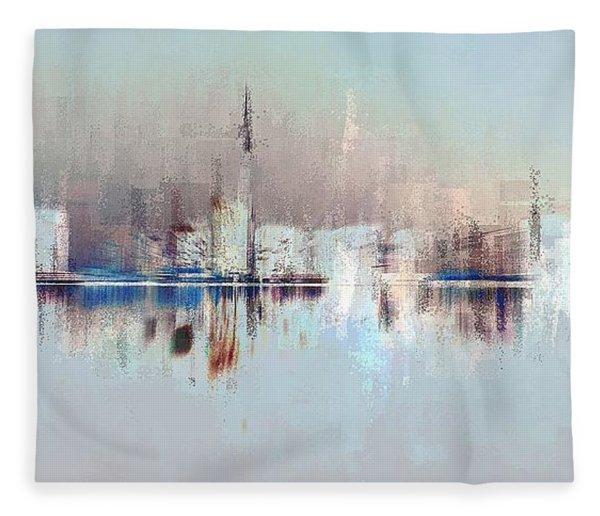 City Of Pastels Fleece Blanket