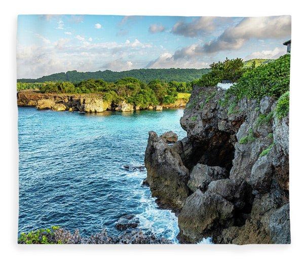 Cliffside Views Portland Jamaica Fleece Blanket
