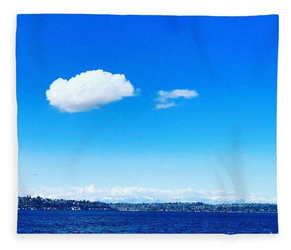 Cloud In Blue Fleece Blanket