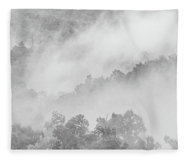 Clouds In The Great Smoky Mountains Fleece Blanket