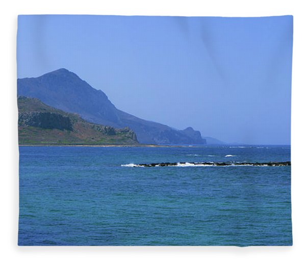 Coast Of Gramvousa Fleece Blanket
